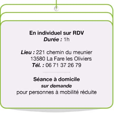 coordonnées RDV sophrologie